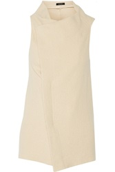 Isabel Marant Kelia Wool And Angora Blend Wrap Vest White