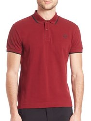 Mcq By Alexander Mcqueen Solid Polo Shirt Burgundy