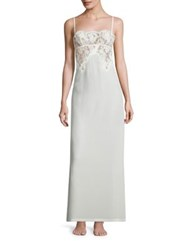 La Perla Lace Story Long Silk Blend Nightgown