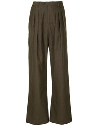 Strateas Carlucci Flared Trousers Brown