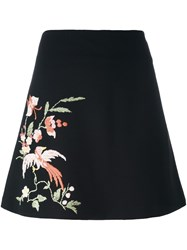 Vivetta Embroidered A Line Skirt Black