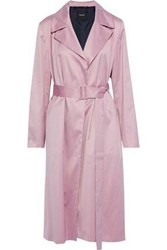 Theory Woman Cotton Trench Coat Lilac