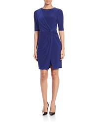 Vince Camuto Knotted Knit Dress Cobalt