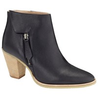 Collection Weekend By John Lewis Puteaux Block Heeled Ankle Boots Black Leather