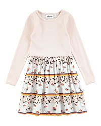 Molo Credence Be My Ladybird Long Sleeve Dress Size 2T 10 Multi