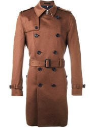 Burberry Belted Trench Coat Brown