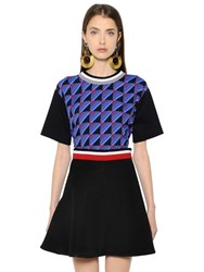 Marni Print Georgette And Cotton Jersey T Shirt
