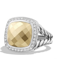 Albion Ring With Gold Dome And Diamonds David Yurman