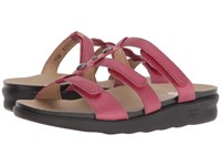 Sas Napoli Cranberry Sandals Red