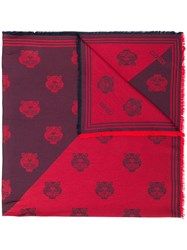 Kenzo Tiger Print Scarf Red