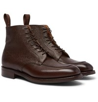 Cheaney Richmond Pebble Grain Leather Boots Brown