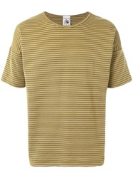 S.N.S. Herning Striped Fitted T Shirt Nude And Neutrals