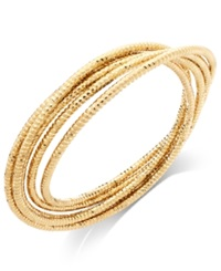 Alfani Gold Tone Twisted Texture Bangle Bracelet Set