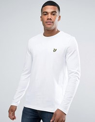 Lyle And Scott Long Sleeve Top Regular Fit Eagle Logo In White White