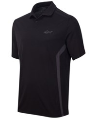 Greg Norman For Tasso Elba Men's Rapichill Performance Golf Polo Deep Black