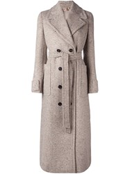 N 21 No21 Double Breasted Coat Nude And Neutrals