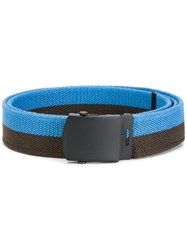 Gosha Rubchinskiy Printed Buckled Belt Polyester Polypropylene Blue