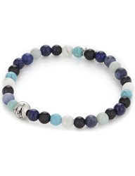 Eton Multi Coloured Bead Bracelet Blue