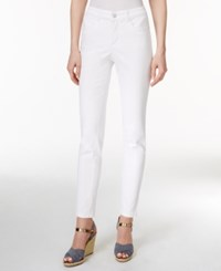Charter Club Petite Tummy Control Bright White Wash Skinny Jeans Only At Macy's