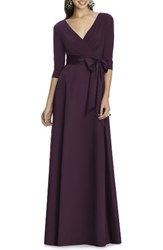 Alfred Sung Women's Jersey Bodice A Line Gown