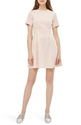 Topshop Women's Panel Fit And Flare Dress Pink