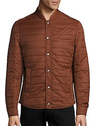 Brunello Cucinelli Quilted Long Sleeve Jacket Rust