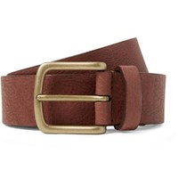 Andersons Anderson's 3Cm Chocolate Full Grain Leather Belt Chocolate