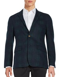 Brooks Brothers Two Button Wool Blazer Green