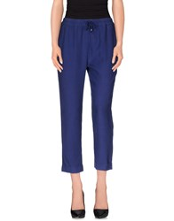 Manuel Ritz Trousers Casual Trousers Women Blue