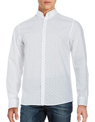 Selected Patterned Sportshirt Bright White
