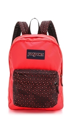 Jansport High Stakes Backpack Black Laser Lace