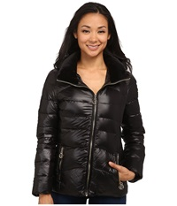 Calvin Klein Short Down Coat W Gold Hardware Black Women's Coat