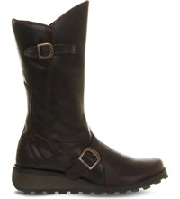 Fly London Mes Leather Calf Boot Dk Brown Rug Lt
