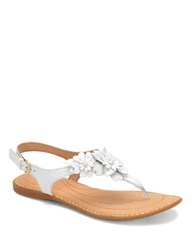 Born D Anna Leather Sandals White