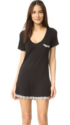 Honeydew Intimates Modern Drifter All American Sleep Shirt Black Silver