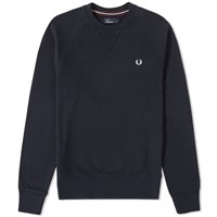 Fred Perry Loopback Crew Sweat Blue