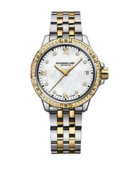 Raymond Weil Tango Diamond Mother Of Pearl Dial Two Tone Stainless Steel Bracelet Watch