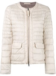 Woolrich Contrast Padded Jacket Women Polyamide Feather Duck Feathers S Blue