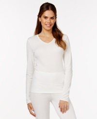 Cuddl Duds Softwear Lace Top Ivory
