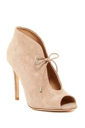 Badgley Mischka Nonna Peep Toe Bootie Brown