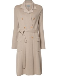 Maiyet Double Breasted Knit Trenchcoat Nude Neutrals