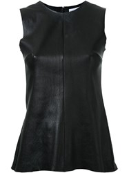 Scanlan Theodore Stretch Leather Tank Top Black
