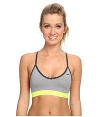 Nike Pro Indy Bra Dark Grey Heather Anthracite Volt Anthracite Women's Bra Gray