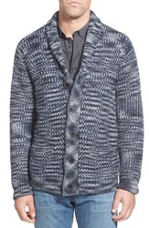 Men's Schott Nyc Space Dye Wool Blend Button Cardigan
