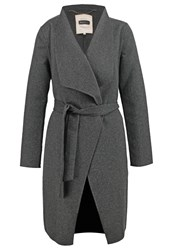 Part Two Alba Classic Coat Dark Grey Melange Mottled Dark Grey