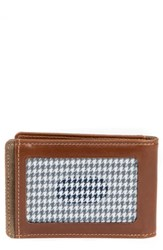 Boconi Bryant Bifold Money Clip Wallet Brown Mahogany Heather