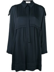 Chloe Loose Fit Shirt Dress Blue