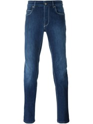 Fay Stonewashed Jeans Blue