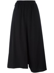 Y's Elasticated Waistband Cropped Trousers Black