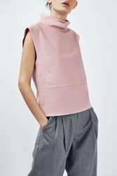 Boutique Leather Funnel Top By Pale Pink